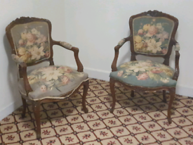 2 Antique Victoian Armchairs