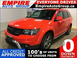 2018 DODGE JOURNEY CROSSROAD * AWD * LEATHER * 7 PASS * SAT RADI