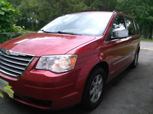 2010 Red Town and Country Touring Minivan