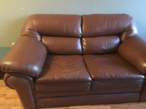 FREE Leather Loveseat Couch!!!