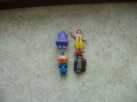 McDonald 1985 Toy Set Ronald Hamburglar Grimace Big Mac.