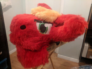 Red and Yellow Furry Mask and Tail