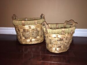 Set of two decorative baskets  London Ontario image 1