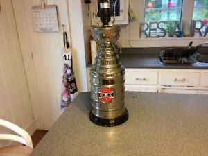 Montreal Canadians Stanley Cup Lamp Man Cave