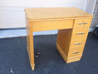 SOLID WOOD SEWING TABLE OR DESK / GREAT MAKEOVER PROJECT