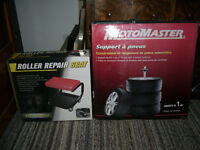 NEW MotoMaster Tire Stand & NEW Rolling Seat