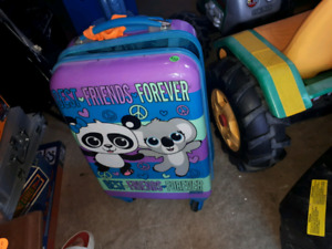 kids luggage from justice    good shape