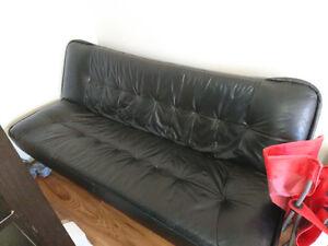 Black leather futon Edmonton Edmonton Area image 1
