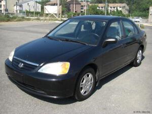 Honda Civic 2001 Noir à Vendre 268 000 Kilo