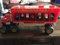 Disney Cars Filled Monster Truck Carrier and Extra Trucks