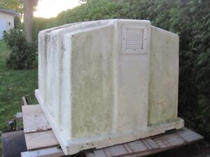"Solid Fiberglass container: 36"" x 52"" x 34"" with vents"