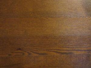 Plancher bois franc Mercier Chêne rouge brossé couleur Gunstock