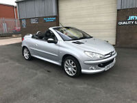 2007 PEUGEOT 206 CC 1.6 16V ALLURE CABRIOLET,ONLY 36000 MILES WITH FULL SERVICE