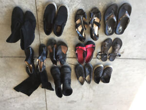 12 pairs of shoes & boots $5 ANY PAIR Nike runners $40 each