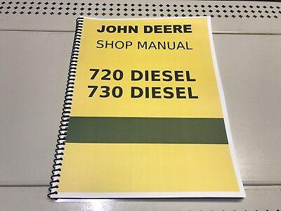 720 Diesel John Deere Technical Service Shop Repair Manual