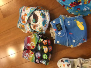 Wet bags, shakers, sprayer, fitteds and covers (cloth diapers)