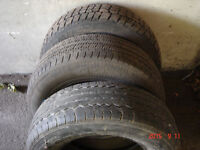 "Three 15"" winter tires (2 with rims), P 215/70 r15"