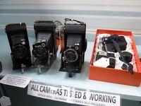 Vintage Cheap Cameras, SLRs, Folding Cameras, Collectable Cameras, Cine Cameras, Nikon,Canon, Bolex