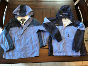 Girls Columbia and LL Bean rain jackets - size 6 and size 10/12