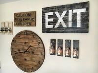 Large Hand Painted Exit Sign