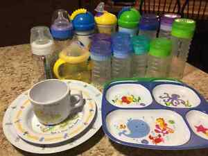 Playtex bottles and dishes
