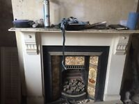Victorian Fireplace With Patterned Insert