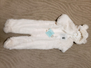 BNWT 6-12 Months Indigo Bear Snuggle Suit - Cream