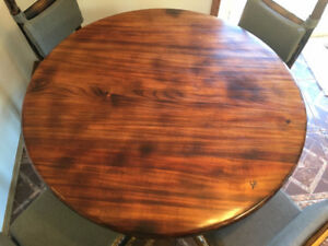 One of a Kind Rustic Dining Table and Chairs