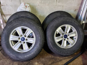 Ford F-150 Winter Tires and nice Factory Rims With Sensors