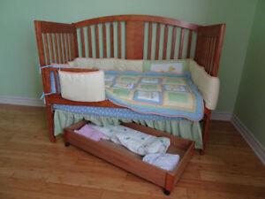 Baby crib- bassinette couchette pour bébé 4 en 1- 2 sets draps