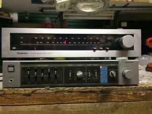 Sanyo Stereo Integrated Amplifier + Technics Tuner 1984 Vintage