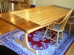NEW PRICE!! Solid Wood Custom Built Table (8 ft)