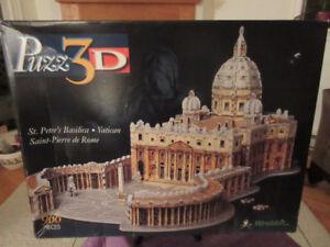 St. Peter's Basilica - Vatican, 966 Piece 3D Wrebbit Puzzle