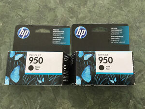 Two Brand New Sealed In The Box HP 950 Black Ink Cartriges