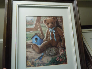 Two Teddy Bear  Hanging Pictures