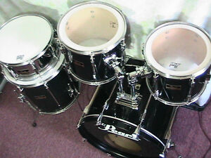 "5Pce*PEARL""Export""Pearl's Flagship Pro.Drum kit*TripleBlk*Mint! Windsor Region Ontario image 2"