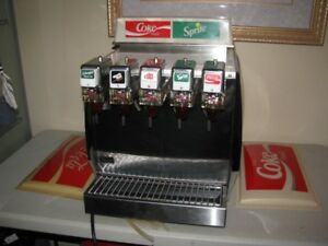 VINTAGE COCA COLA COUNTER RESTERAUNT COKE SPRITE 5 HEAD DISPENSE