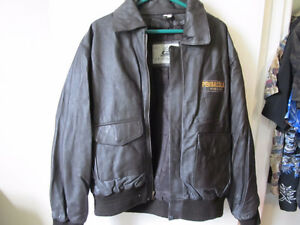 black leather jacket from burks bay  size lge