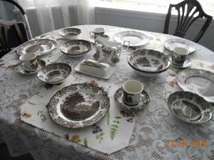 Complete Set  J & G Meakin Romantic England Dishes
