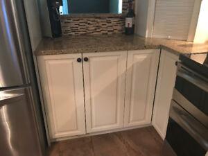 Corner kitchen cupboard.