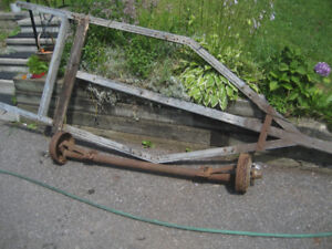 Older Boat Trailer Axle and Frame