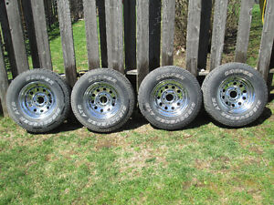 Used tires on aluminum rims