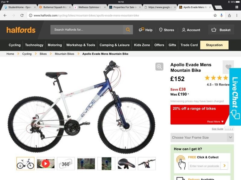Apollo Evade Men S Mountain Bike In Burntwood Staffordshire
