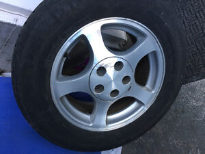 Mustang rims with summer tires
