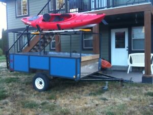 9' Utility Trailer with racks for boat or kayaks
