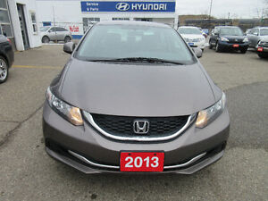 2013 Honda Civic LX-CLEAN CARPROOF!!12 MONTHS WARRANTY!! $9,995
