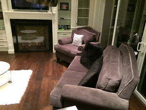 New 3 Piece Studded High Back Custom Grey Couch Set London Ontario image 10