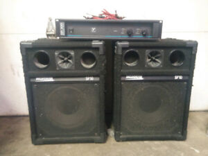 Washburn sp10 pa speakers - pole mountable