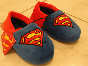 SUPERMAN DC COMICS BOYS SLIPPERS