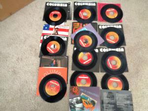 45 RPM Vinyl Columbia Bruce Springsteen / Picture Sleeves Etc.